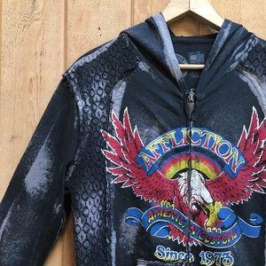 Affliction Full Zip Hoodie Sweatshirt Jacket